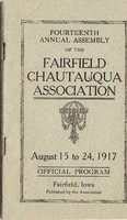 1917 Fairfield Chautauqua program