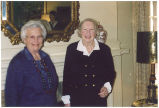 Margo Osherenko and Babette Wurtz in their childhood home, April 1, 1998