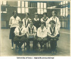 1924 volleyball team, The University of Iowa, 1924