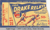 Drake Relays, 1964, Admission Ticket