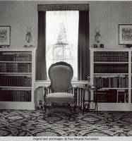 Chairs and bookcases in White house