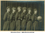 Women's basketball team, The University of Iowa, 1916