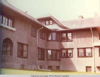 Rear view of Grey house