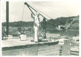 Walter Jessup visits Art Building construction, the University of Iowa, June 2, 1934