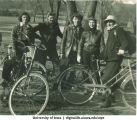Bicyclists, The University of Iowa, 1940s