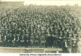 Spectators at Iowa-Purdue football game, The University of Iowa, 1922