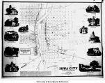 Map of Iowa City, Iowa City, Iowa, 1854