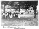 Pentacrest crowd, The University of Iowa, ca. 1890