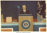 President Ford speaking at the Republican National Convention, Kansas City, Mo., August 1976