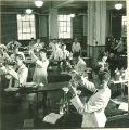 Students mixing drugs in pharmacy laboratory, The University of Iowa, November 8, 1940
