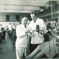 Dental school instructors in dental clinic, The University of Iowa, 1940s
