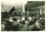 All-State summer appreciation with P.G. Clapp playing piano in Macbride Auditorium, The University of Iowa, 1930