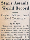 Drake Times-Delphic, 1938, Stars Assault World Record