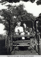 Gibbs couple in buggy