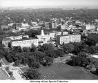 Pentacrest, Hubbard Park, The University of Iowa, 1950s