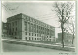 Southeast view of Jessup Hall with Maclean Hall beyond it, the University of Iowa, 1920s