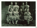 Actresses in a University High School play Seven sisters, The University of Iowa, December 13, 1939