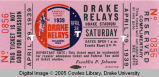Drake Relays, 1939, Exchange Ticket