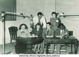WSUI radio broadcasters, The University of Iowa, late 1940s