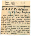 WAAC to address victory legion