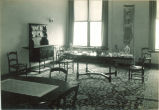 Dining room furniture in a home economics class, The University of Iowa, 1920s