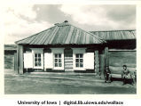 Farm house at Red Dawn collective farm in Irkutsk region, Siberia, 1944