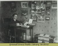 Billy Robinson studying in his room