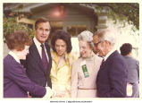 Mary Louise Smith with Richard V. West, Jr.  Pres. George H. W. Bush, and friends, 1970s