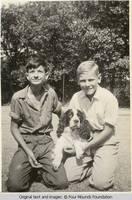 Heitzman boys with dogs