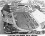 Governor's Day troop formations on Iowa Field, The University of Iowa, 1927