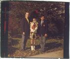 Scottish Highlander members Fred Whyte, Linda Nelson and Marc Jamison, The University of Iowa, November 7, 1970