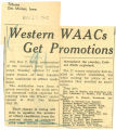 Western WAACs get promotions