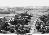 University Hospitals, football stadium, The University of Iowa, 1930