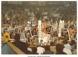 Sea of President Ford signs at the Republican National Convention, Kansas City, Mo., August 1976