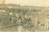 Soldiers and tents in camp, Stuart, Iowa, September 27, 1909