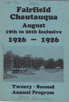 1926 Fairfield Chautauqua program