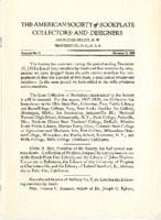 American Society of Bookplate Collectors & Designers (10) 1938, Pamplet