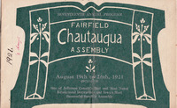 1921 Fairfield Chautauqua program