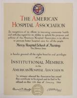 1968 Membership in the American Hospital Association