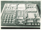 Architectural model of a Main Library floor, the University of Iowa, April 7, 1944