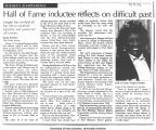 """Hall of Fame inductee reflects on difficult past,"" September 14, 1992"