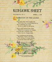 Panegyric on the ladies; Kohawk sheet, vol. 3, no. 2