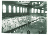 Scout Day at the swimming pool in the Armory, the University of Iowa, October 29, 1927