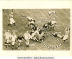 Victory touchdown by Bill Green in Iowa-Notre Dame football game, The University of Iowa, November 16, 1940