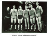 Basketball team with coach, The University of Iowa, December 5, 1944