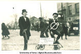 Student Council member and political boss in Mecca Day parade, The University of Iowa, 1920