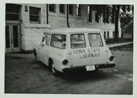 Iowa State Library Travel Wagon
