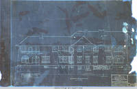 Grey house north elevation blueprint