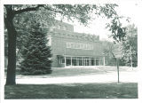 Side entrance to Field House, the University of Iowa, 1956