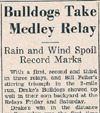 Drake Times-Delphic, 1937, Bulldogs Take Medley Relay